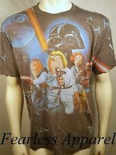 Family Guy Star Wars Stewie Peter Lois Brian Meg Griffin Vader Tee T Shirt L