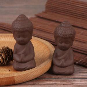 1Pc Mini Garden Accessories Meditation Buddha Statue Ceramic Figurine Home-DecZY