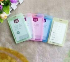 Hard Plastic Pocket ID Card Badge Name Tag Holder Bulk LOT 5/10/20 Piece Packs