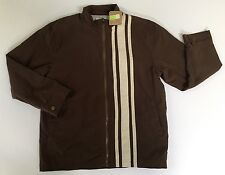 NWT Gymboree Crazy 8 Size M 7-8 Boys Brown Retro Racing Stripe Jacket