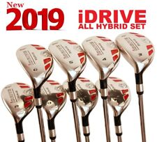 LEFT HANDED iDRIVE ALL HYBRID 3-9 + PW Rescue IRON WOOD SET GRAPHITE REGULAR LH