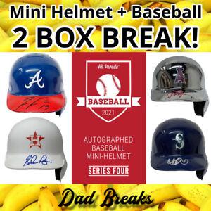 BOSTON RED SOX MLB Signed Mini Batting Helmet + TriStar Baseball: 2 BOX BREAK