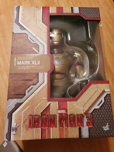 New Hot Toys Marvel Iron Man 3 Mark 42 Mk XLII 1/4 Scale Bust Figure sealed