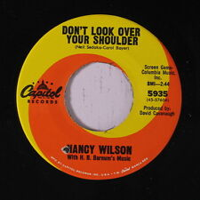 NANCY WILSON: Don't Look Over Your Shoulder 45 (co) Soul