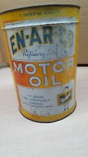 Vintage advertising en-ar-co imperial Motor Oil can sign white rose red indian
