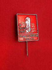 Old vintage pin badge -Tito comunist period Slovenia POLJANA PRI PREVALJAH 1975