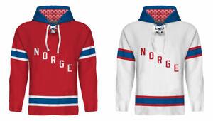 NEW 2021 Team Norway Norge Hockey Hoodie NHL Zuccarello Thoresen Tollefsen