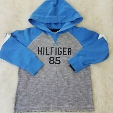 Tommy Hilfiger Kids Boys Hoodie Sweater Graphic School Casual Sz 5 Blue D8