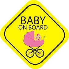 Baby On Board Girl Exterior Bumper Window Sticker Decal Graphic Vinyl Label V2