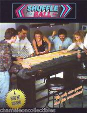 SHUFFLE BALL By ELECTRO GAMES NOS SHUFFLEBOARD ARCADE MACHINE FLYER BROCHURE