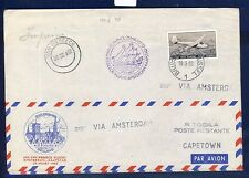 42265) KLM SF Amsterdam - Kapstadt 25.3.52, feeder mail Belgien >
