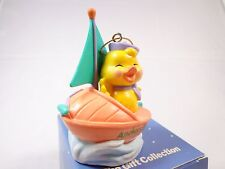 Avon Easter Eggspression Ornament Yellow Chick on a Sailboat Anchors eggway NWB