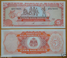 Haiti Paper Money 5 Gourdes 1992 UNC