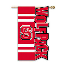 North Carolina State University Bulldogs Sculptured Applique Flag NCAA College