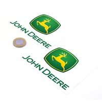 John Deere Badge Sticker Decal Vinyl 100mm x2 Tractor Farming Lawnmower