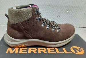 Ladies Merrell J16528 Bracken Ontario Suede Mid Lace Up Ankle Boots