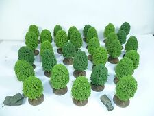 30 small model trees for 6mm, 1/285th, 1/300th scale wargames