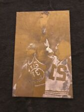 Rare Vintage printing plate unknown basketball Card photo Mancave
