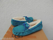 UGG DAKOTA MARLIN SUEDE/ SHEEPSKIN MOCCASIN SLIPPERS, US 8/ EUR 39 ~NIB