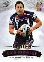 ✺Mint✺ 2012 MELBOURNE STORM NRL Premiers Card BILLY SLATER