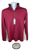Southern Tide Mens T3 Sangria 1/4 Zip Long Sleeve Performance Pullover Top Sz S