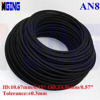 AN8 -8 AN Teflon Braided Stainless Steel PTFE E85 Ethanol Oil Line Fuel Hose 1FT