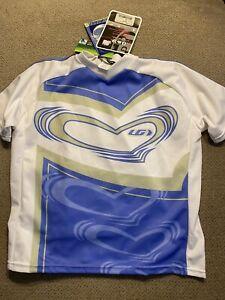 Louis Garneau Mountain Bike 3-pocket cycling jersey - youth / jr Small S New
