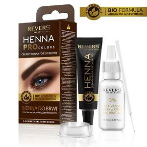 Eyebrow tint dye kit creamy Henna ProColors with argan oil & castor oil New