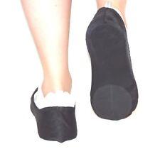 Dance Sliders Covered Heel, Black, Unisex - Size Small