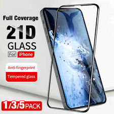 For iPhone12 Mini/Pro Max 21D Full Coverage Tempered Glass Screen Protector Film