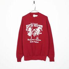 Vintage 90s Avon Fleuve Graphique Grand Logo Sweat Rouge XL
