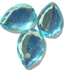 Czech Preciosa Crystal Teardrop Baby Blue 3 Loose Beads