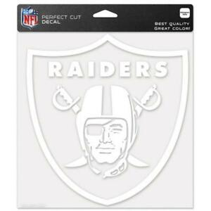 "Oakland Raiders 8""x8"" White Auto Decal [NEW] NFL Car Sticker Emblem Truck"
