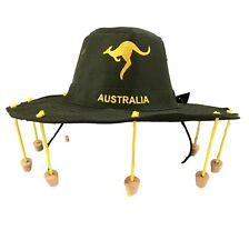 Australian Souvenir Adults Aussie Cork Hat Australian Day Fancy Dress Green Bush