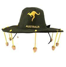 Australian Souvenir Adults Aussie Cork Hat Crocodile Dundee Fancy Dress Green