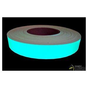 Phosphorband selbstklebendes Leuchtband Bühnenbedarf nachleuchtend aqua 25mm