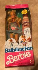 Bath Time Fun Barbie 1990 NEW factory sealed in original box w/ bathtime foam