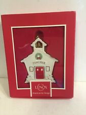"Lenox ""For My Teacher"" Christmas Ornament - Mib"