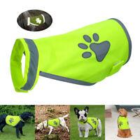 High Visibility Safety Dog Jacket Clothes Walking Vest Hi Vis Viz Cute Paw Print