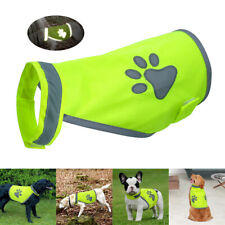 Reflective Dog Vest Gear Coat Fluorescent Polyester Clothes Safety Light Walking