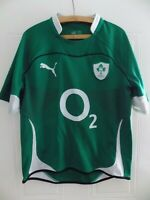 Ireland Rugby Union Shirt Retro Jersey Adults Top Puma Home 2010 2011 Mens Size