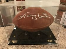 Johnny Unitas Signed Autographed Official NFL Football Baltimore Colts Rare HOF