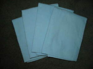 ***STANDARD SIZE***SET OF 4***PILLOW CASES***FLANNEL***BLUE