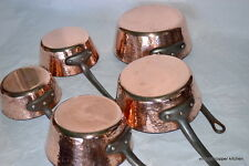 French vintage huge 2mm rare saute splayed copper pan Jean Paul Theveux
