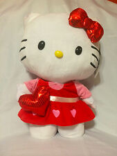 "Hello Kitty by Sanrio 20""  Tall Greeter Plush w/ Heart ~ Indoor Decor . New!"