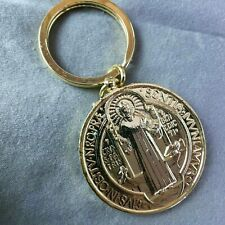 St Benedict Medal Keychain Keyring Catholic Saint Heavy Large Metal