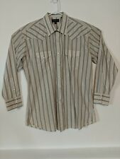 Panhandle Slim Mens Dress Shirt 17 / 35 Long Sleeve Pearl Snap Western