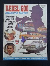 1977 Nascar Darlington Raceway Rebel 500 Race Program Darrell Waltrip Winner