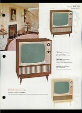 Rare Vintage Original 1963 Philco Model 4876 B&W Television TV Dealer Sheet Page