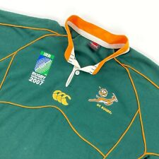 Canterbury of New Zealand CCC Men's Rugby World Cup 2007 Polo Jersey Green • 2XL